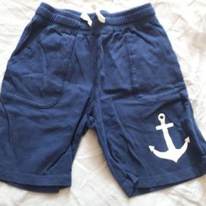 Nautical Short Navy Blue Anchor Jersey Cotton